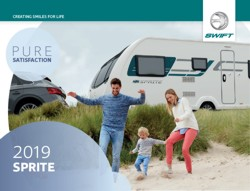 2019 Swift Sprite Caravan Brochure