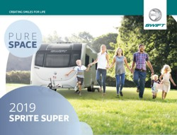 2019 Swift Sprite Super Caravan Brochure